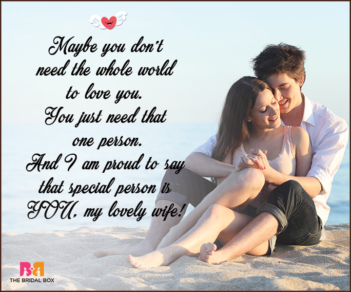 I Love You Messages For Wife - You Just Need That One Person