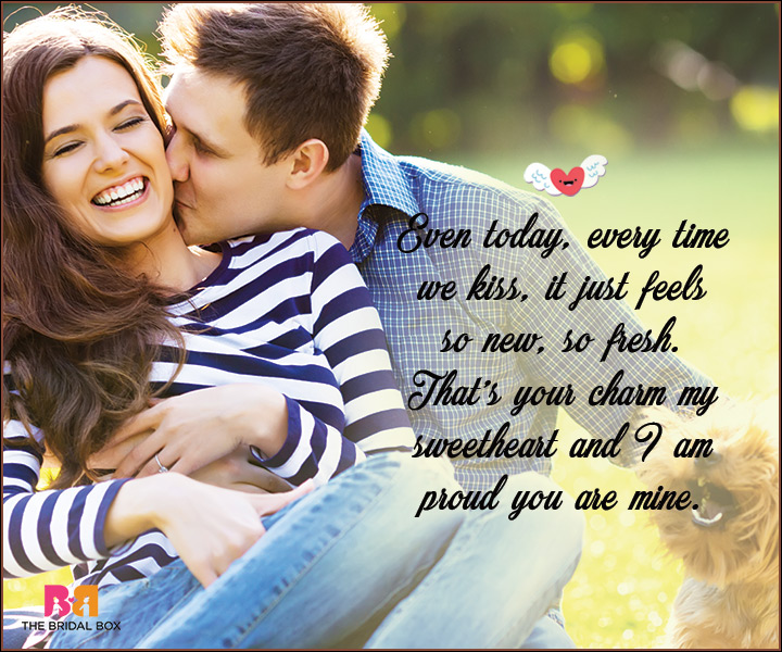 I Love You Messages For Wife - Every Time We Kiss