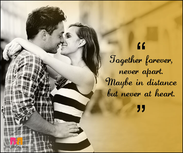 Love Forever Quotes - Maybe In The Distance