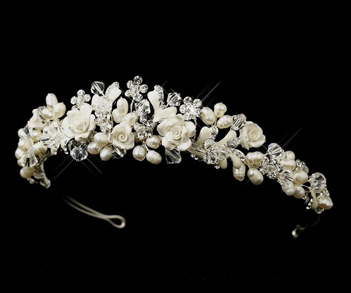 Wedding Tiara - Of Roses And Sparkle