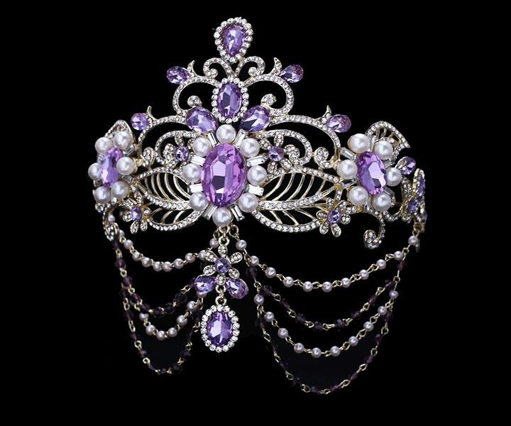 Wedding Tiara - Oriental Exotic