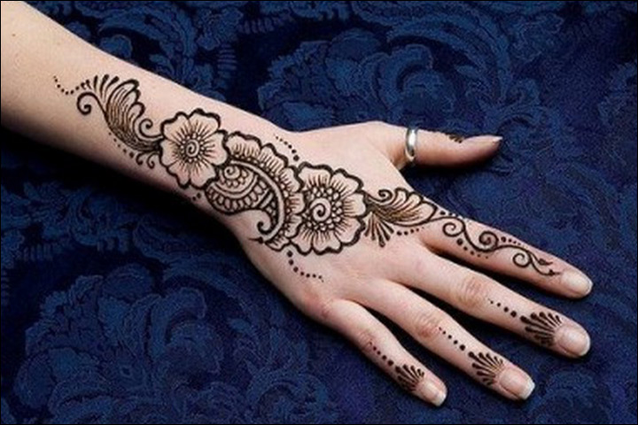 Khaleeji Mehndi Designs - Perfect For The Back Of The Hands