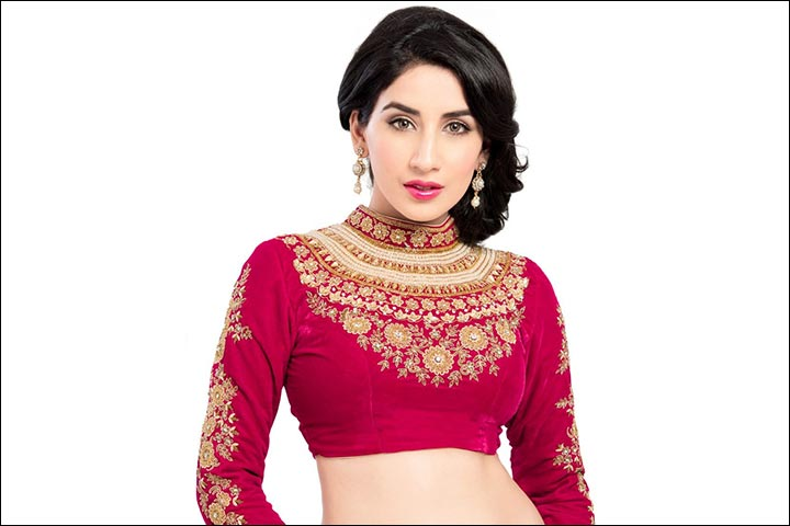 33b7e7bfff1cf7 Maggam Work Blouse Designs : 21 Latest Work Blouses