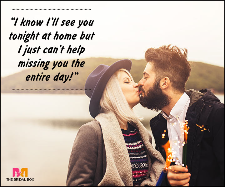 Romantic Love Messages For Husband - I'll See You Tonight