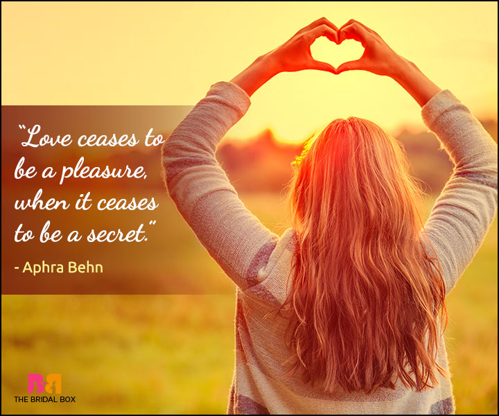 Secret Love Quotes - Aphra Behn