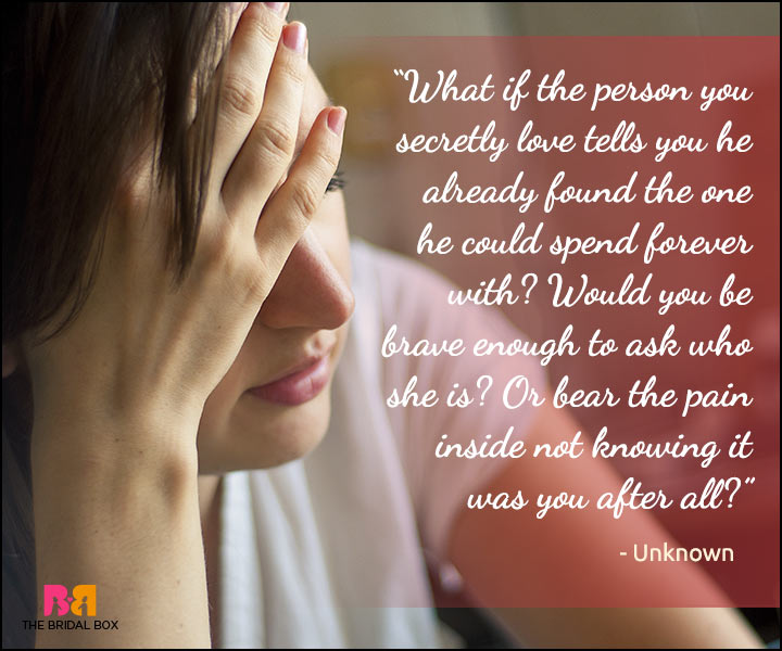Secret Love Quotes - Anonymous Broken Love