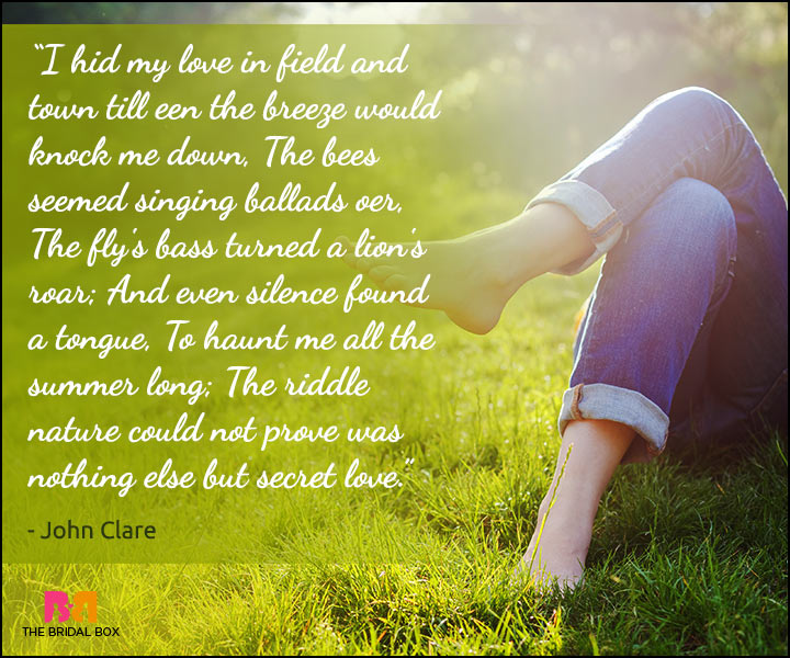 Secret Love Quotes - John Clare