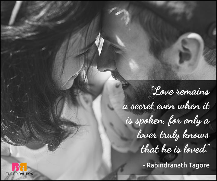 Secret Love Quotes - Rabindranath Tagore