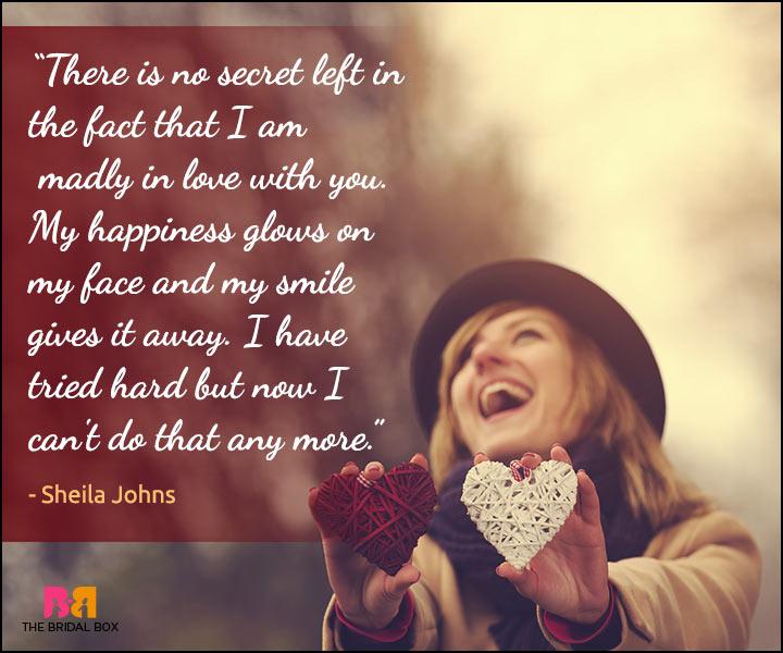 Secret Love Quotes - Sheila Johns