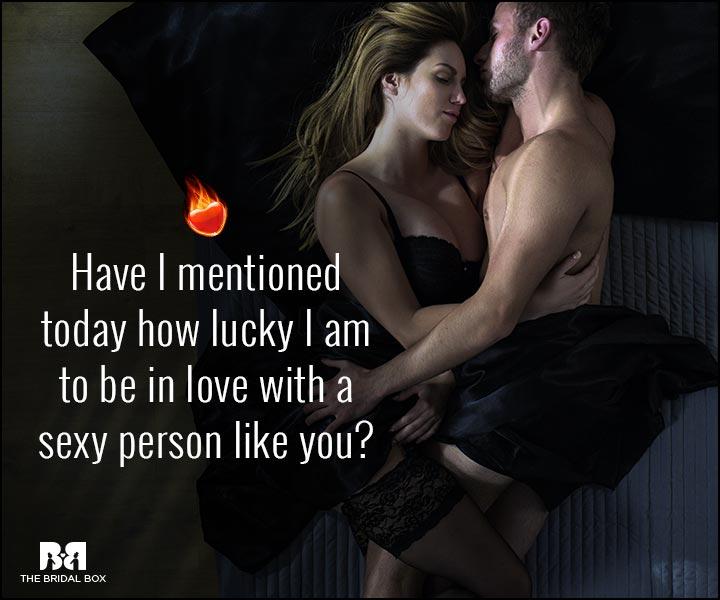 Sexy Love Quotes - How Lucky I Am