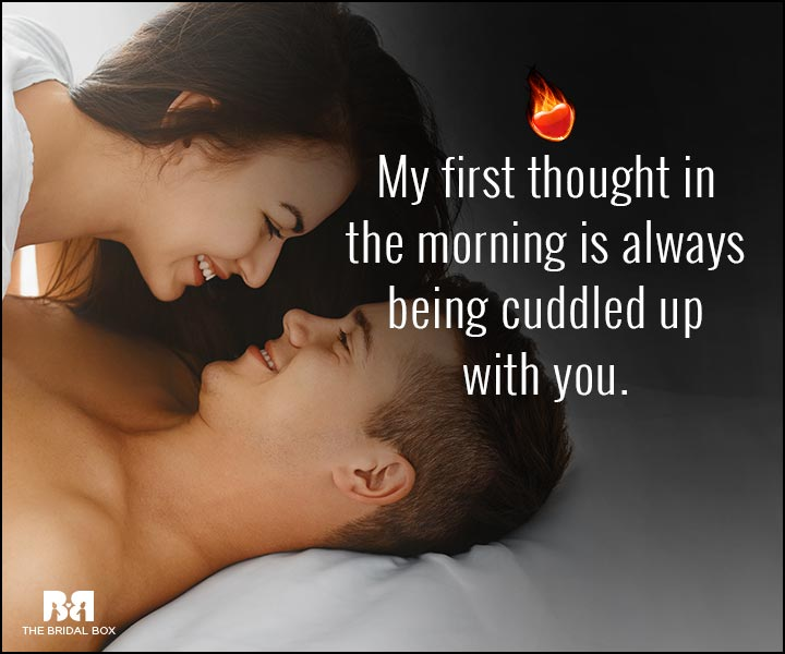 Sexy Love Quotes - My First Thought