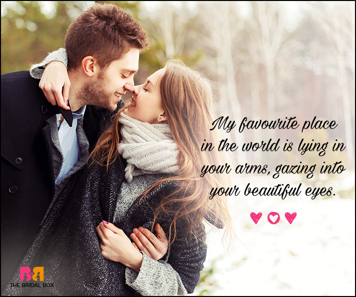 Valentines Day Quotes For Him - Gazing Into Your Eyes