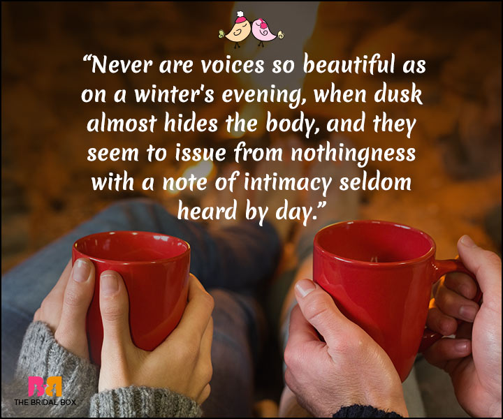 Winter Love Quotes - The Dusk HIdes