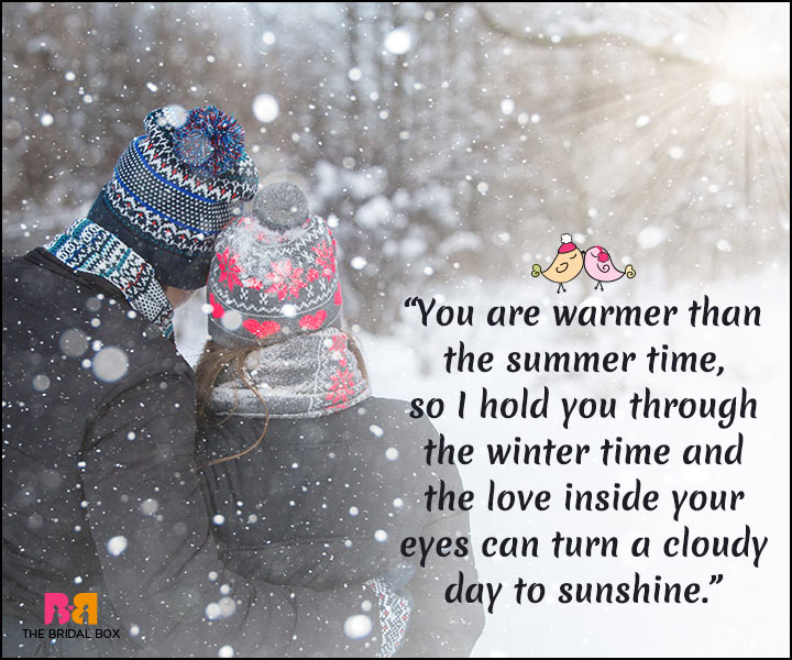 Winter Love Quotes - Warmer Than The Summer