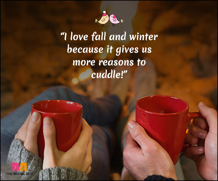 Winter Love Quotes - More Reasons To Cuddle
