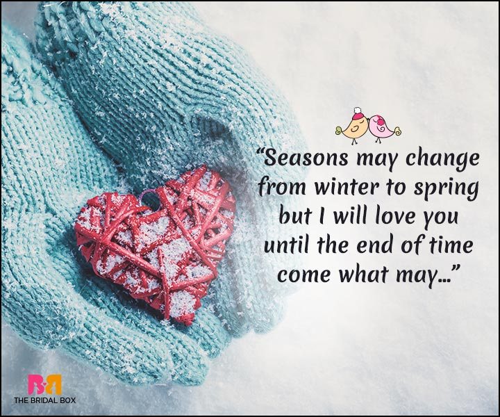 Winter Love Quotes - Winter To Spring
