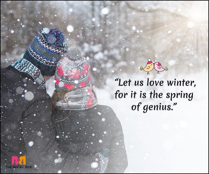 Charmant Winter Love Quotes   The Spring Of Genius
