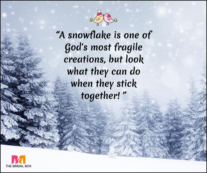 Winter Love Quotes - Snowflakes