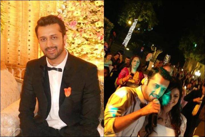 Atif Aslam Wedding - Atif Aslam And Sara Bharwana At Their Reception Chilling