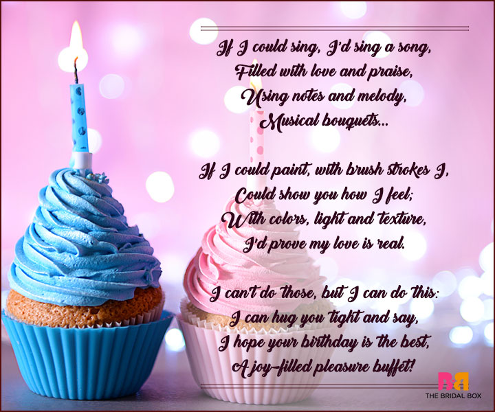 Birthday Love Poems - If I Could Sing
