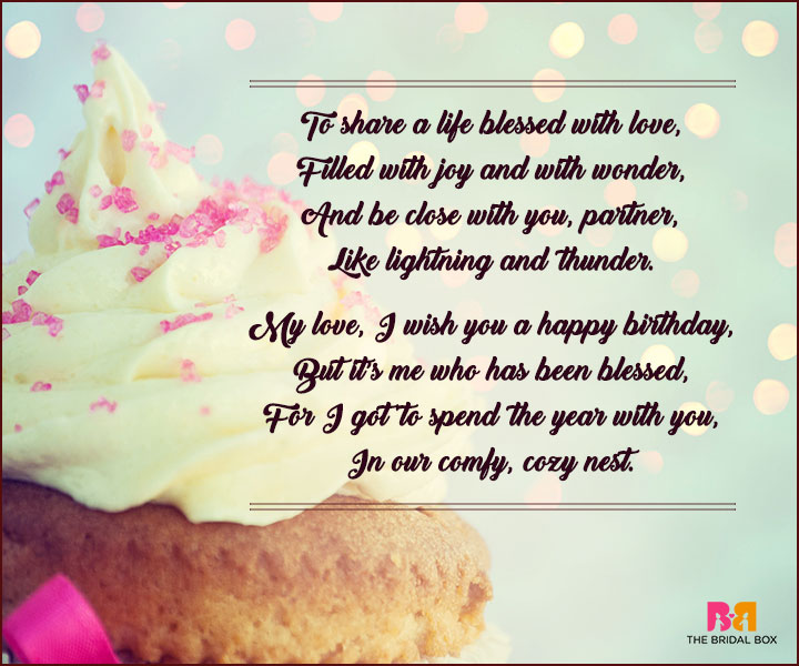 Birthday Love Poems - Blessed With Love