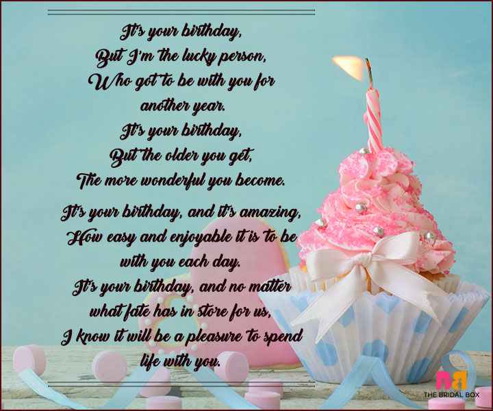 Birthday Love Poems - I'm The Lucky Person
