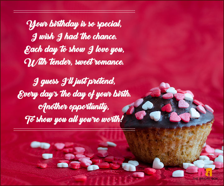 Birthday Love Poems - Another Opportunity