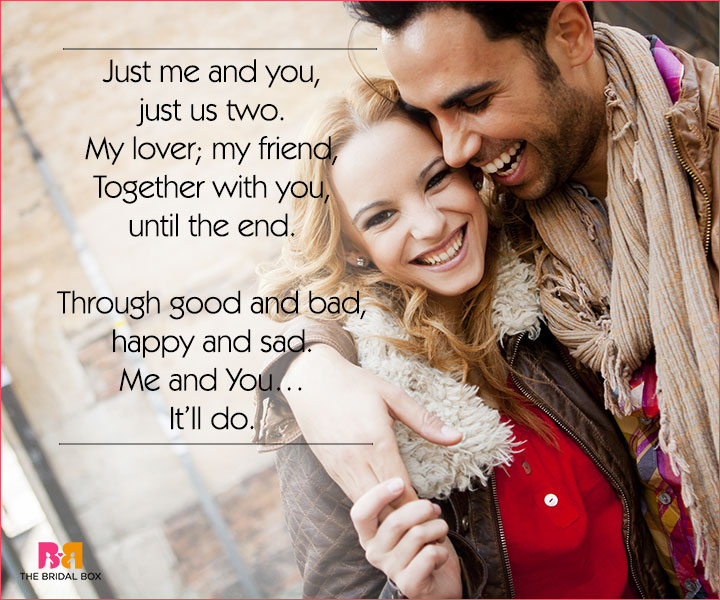 Cute Love Poems For Her - Just Me And You