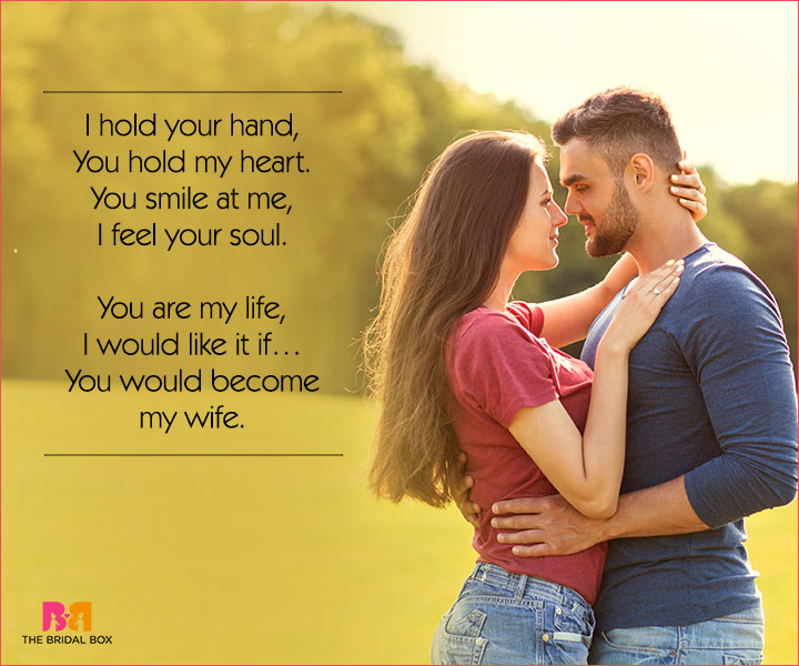 Cute Love Poems For Her - I Hold Your Hand