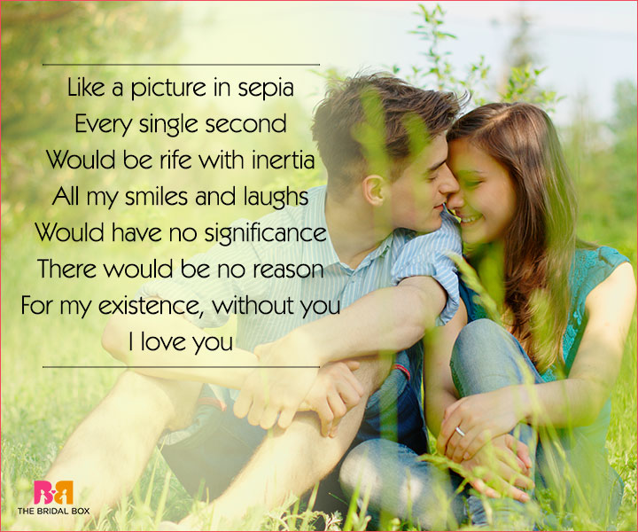 Cute Love Poems For Her - Like A Picture In Sepia