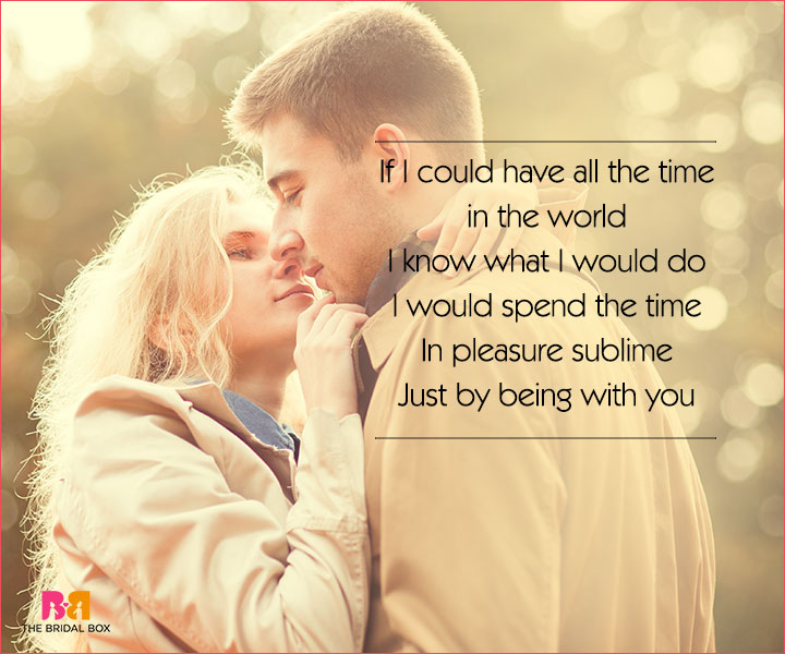 Cute Love Poems For Her - If I Could Have All The Time