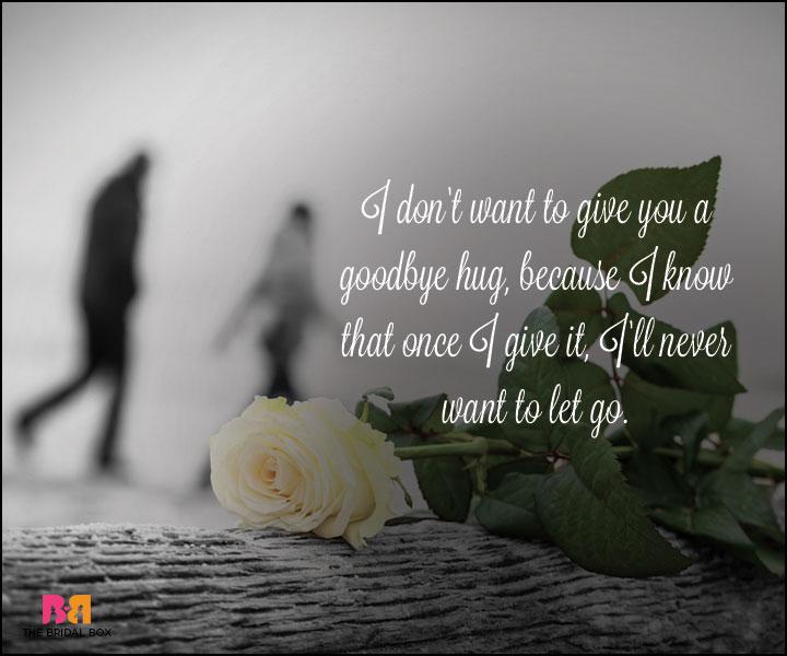 Goodbye Love Quotes - A GoodBye Hug