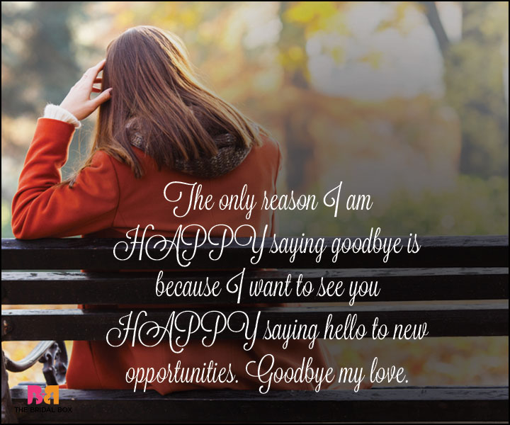 Goodbye Love Quotes - Happiness