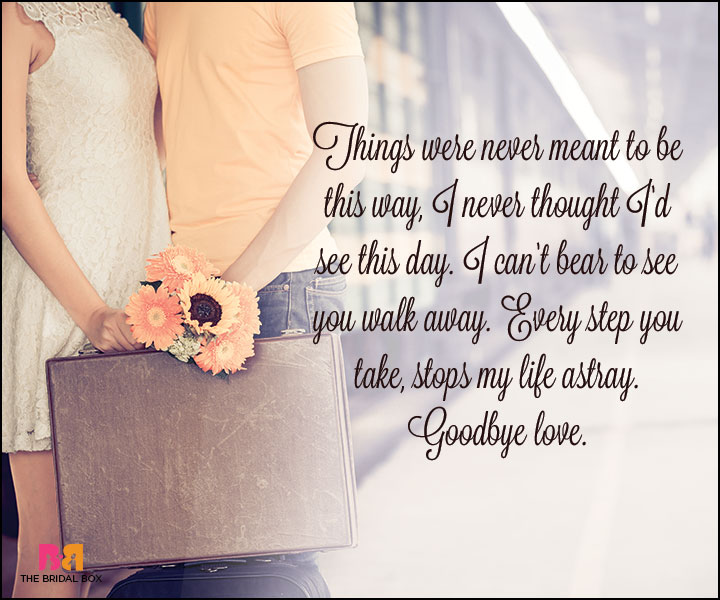 Goodbye Love Quotes - Never Meant To Be