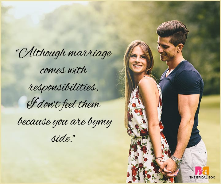 I Love You Messages For Husband - Responsibilities