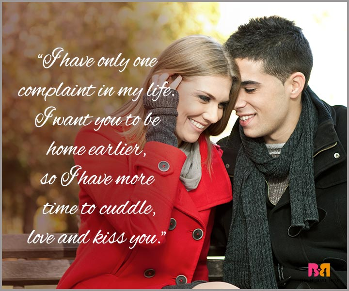 I Love You Messages For Husband - Only One Complaint