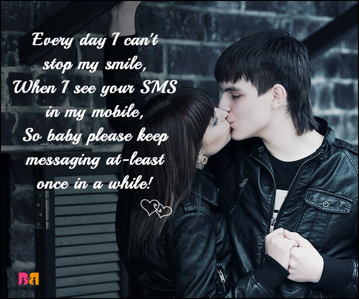 Love SMS - I Can't Stop My Smile