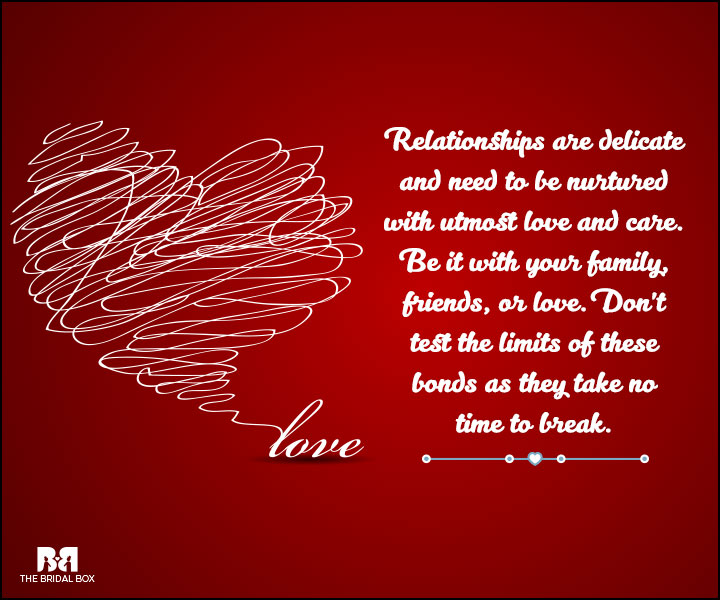 Love And Care Quotes - Relationships Are Delicate