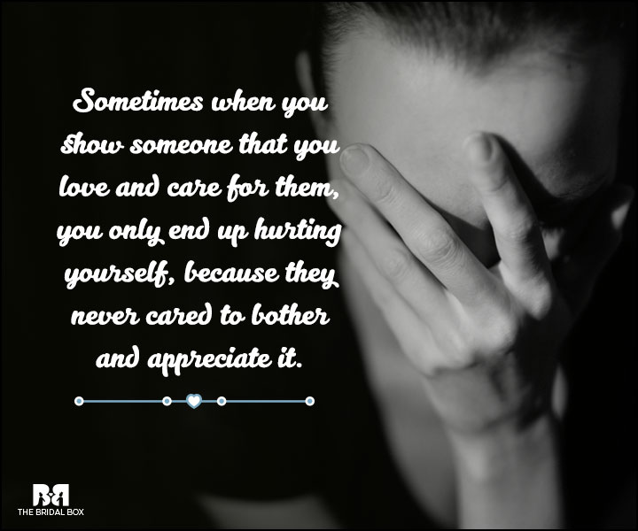 Love And Care Quotes - Hurting