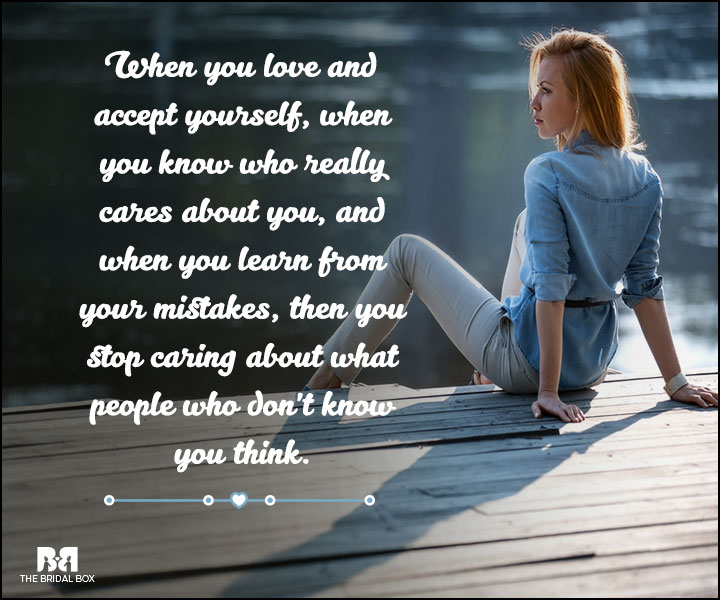 Love And Care Quotes - Accept Yourself