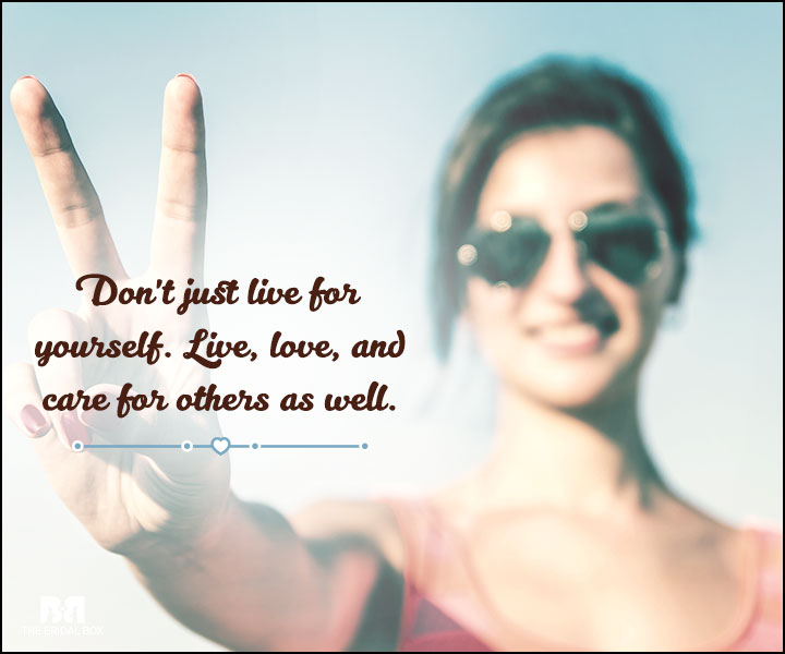 Love And Care Quotes - Live Love And Care