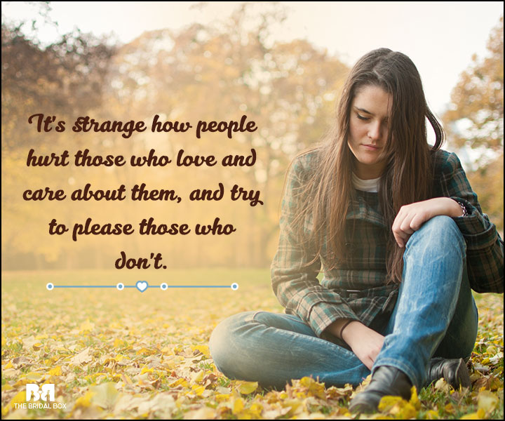 Love And Care Quotes - Strange