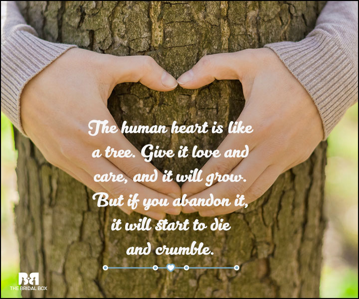 Love And Care Quotes - The Human Heart