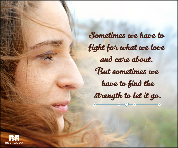 Love And Care Quotes - Sometimes We Have To