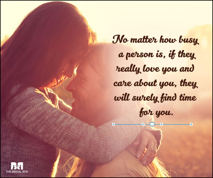 Love And Care Quotes - No Matter How Busy