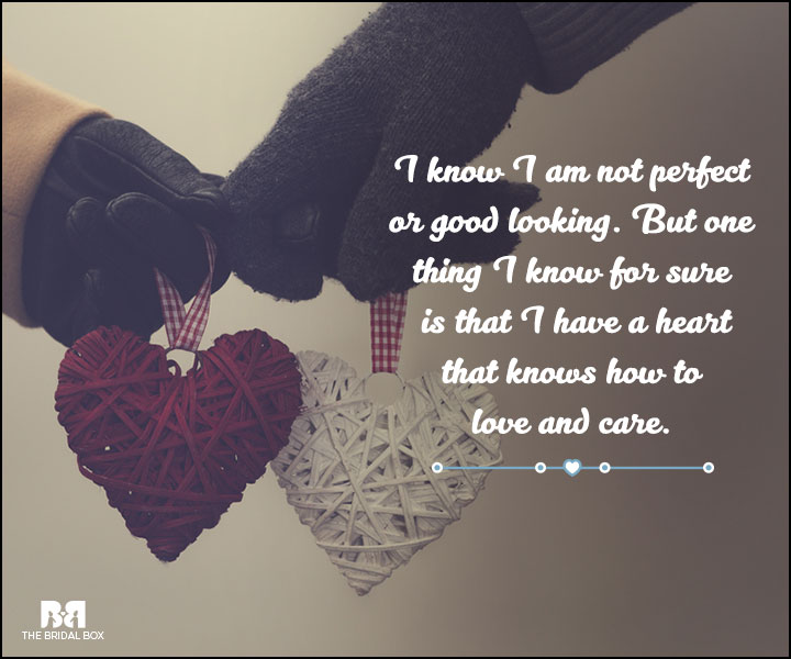 Love And Care Quotes - I'm Not Perfect