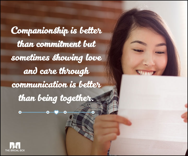 Love And Care Quotes - Companionship