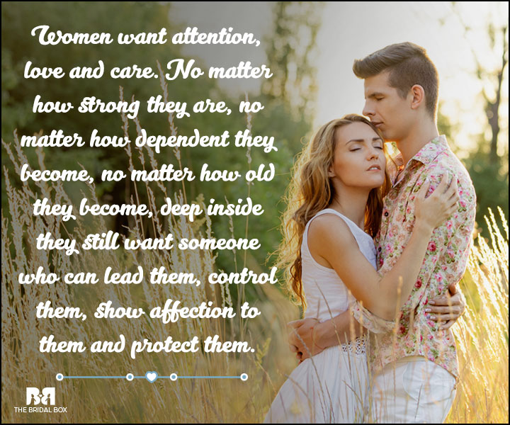 Love And Care Quotes - What Women Want