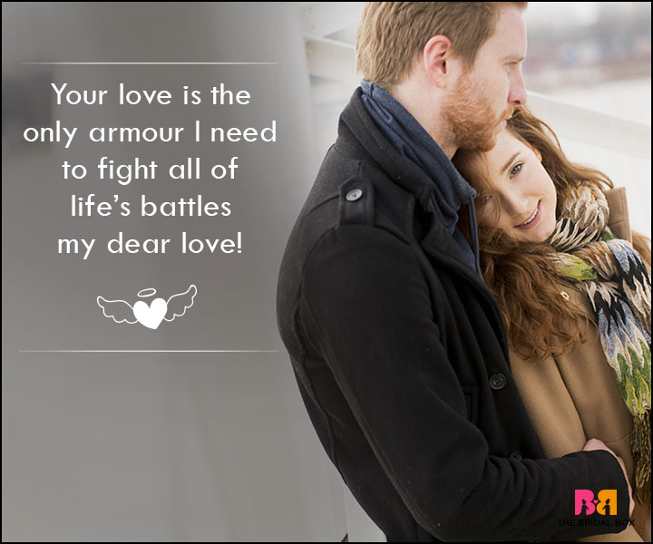 Love SMS For Wife - You Love Is My Only Armour