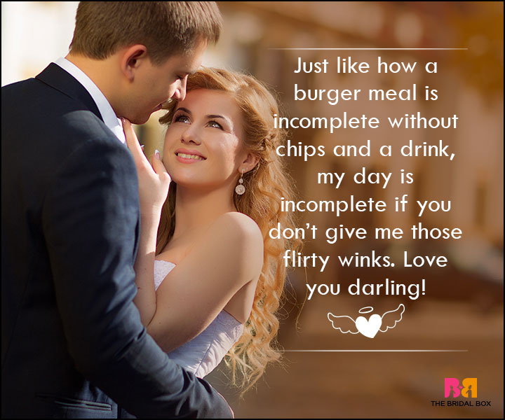 Love SMS For Wife - A Burger Meal